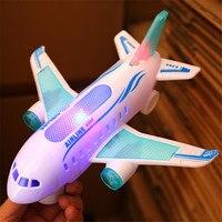 전기 항공기 비행기 모델 장난감 ABS 항공기 A380 깜박이는 빛 큰 비행기 소년 장난감 어린이 크리스마스 선물 새로