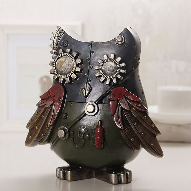 Loft Style Decorative Mechanical Owl