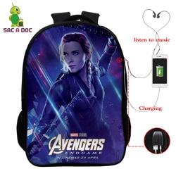 Avengers 16 Cal podróży torba szkolna dziewczyny chłopcy plecaki dzieci Plecak uczeń Plecak dzieci Bagpack Plecak Szkolny prezent 2
