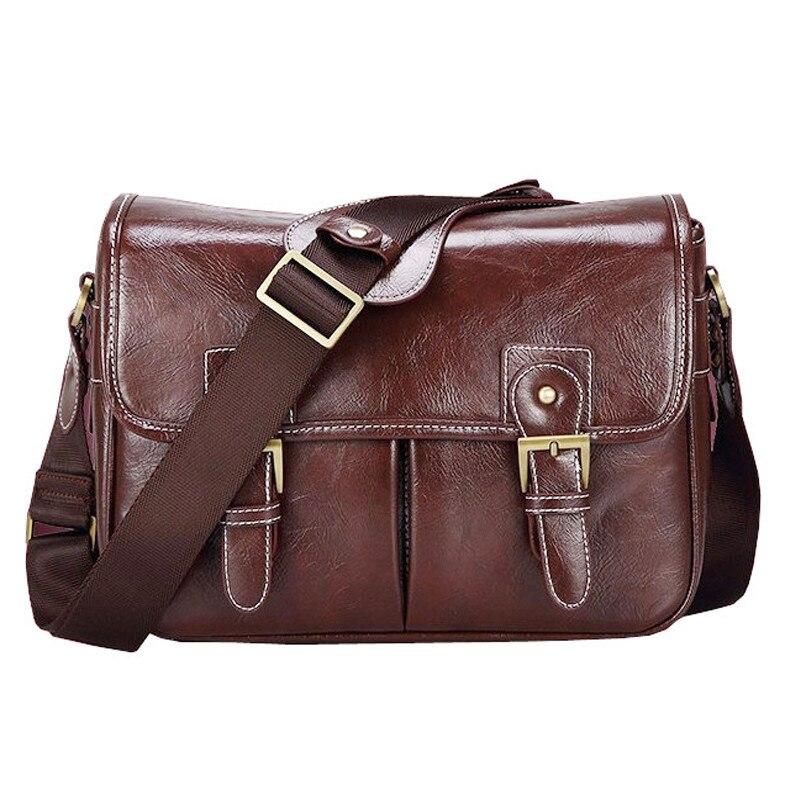 Photo Luxury Camera Stylish Fashion Retro PU Leather Case Handbag Waterproof Shoulder Messenger DSLR Bag for