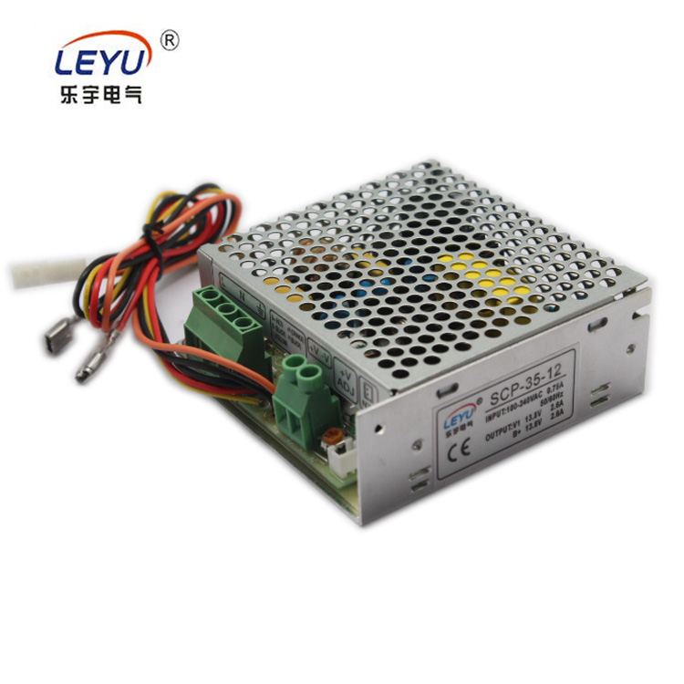 LEYU SCP-35 series 12V 24V 35W 2.6A 1.4A Battery Charger with UPS Power Supply battery backup scp 35 12 ups function power supply 35w 13 8v switching power supply