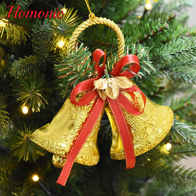christmas bells diy crafts merry christmas decorations 15cm beautiful sparking gold christmas bell xmas tree hanging