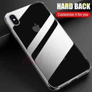 Image 3 - H & A 高級 Iphone XS 最大 XR × ケース超薄型透明な背面ガラスカバーケース iphone XS 最大クリア Coque
