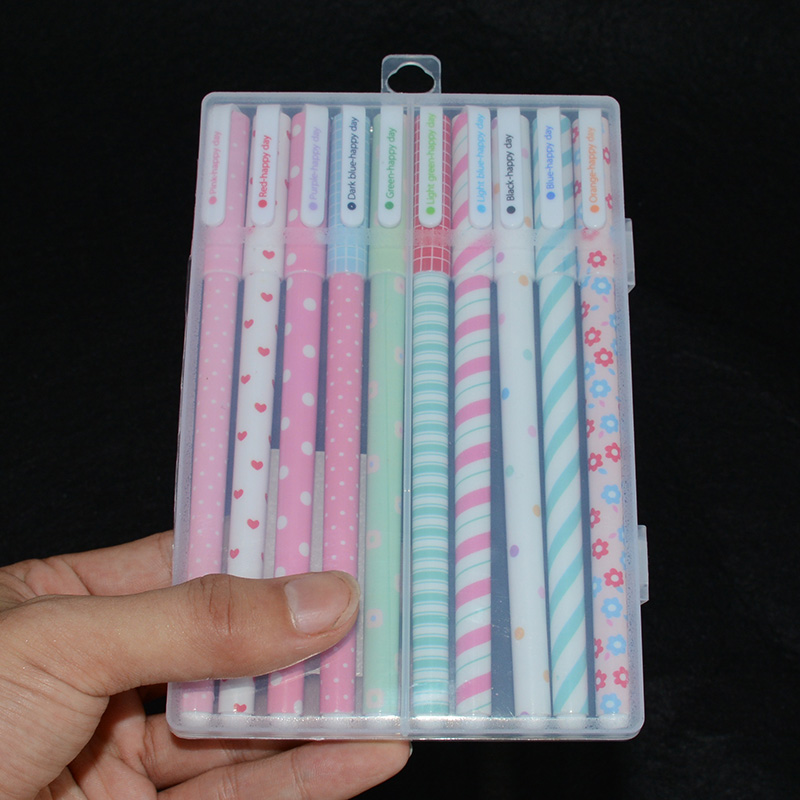 10 pcs/box caneta gel pen lapices escritorio canetas school material escolar flower kawaii penne caneta colorida pens pentel lapices erasable pen kawaii stationary material escolar boligrafo gel penne cute canetas floral caneta stylo borrable cancellabi