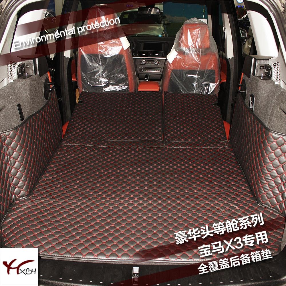 Custom fit car trunk mat cargo mat for bmw x3 f25 2010 2011 2012 2013 2014