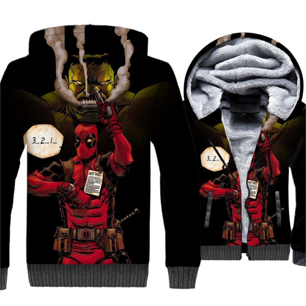 hooded novelty deadpool 3D printing jackets coats mans 2019 hip-hop sweatshirts streetwear brand clothing men tracksuit