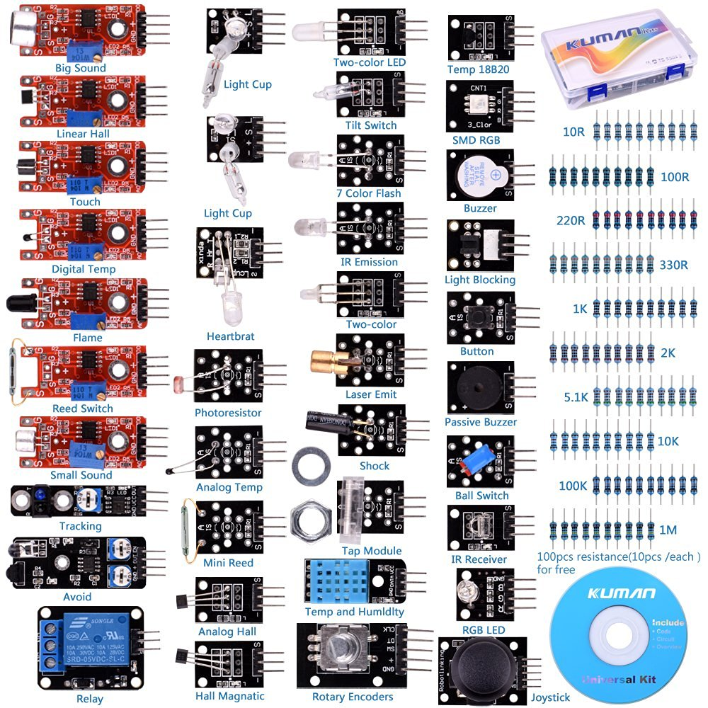 Miroad 37 Sensor Module The Starter Kit Robot Projects for font b Arduino b font Uno