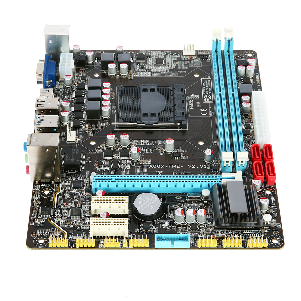 Runing A88 Motherboard MATX Motherboard for AMD FM2 FM2 SATA and USB Ports 16GB 2 DIMM