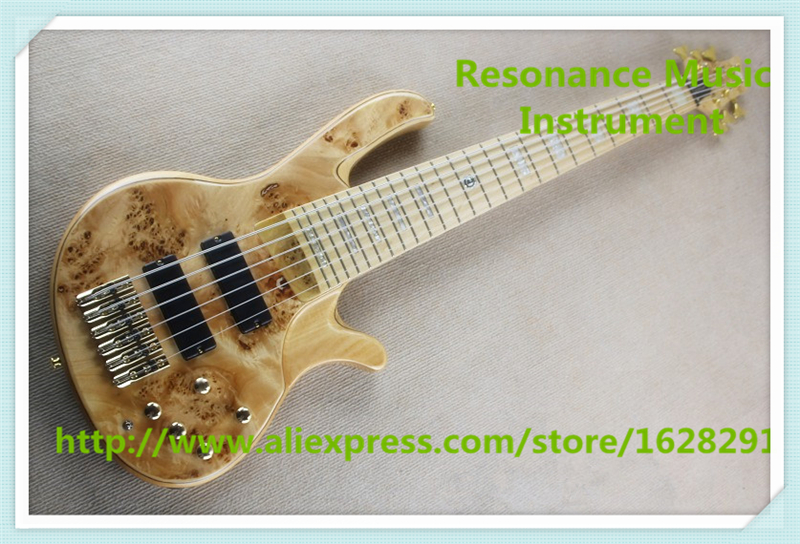 New Arrival Rotted Grain Finish deOlivera 6 String Electric Bass Guitar With Gold Hardwares In Stock