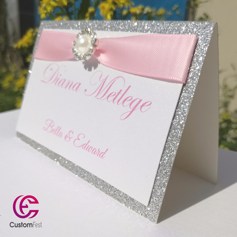 30pcs/lot Personalized Place card name card for party and wedding ...