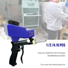 For AS118 Sandblaster Air Gravity Feed Blast Gun With 1/2/4/6 Nozzle Replaceable Tips Abrasive Sand Blasting Pneumatic Tools