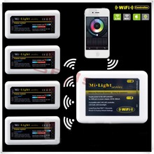 Ми Свет 2.4 Г Wi-Fi Контроллер + 4 * 4-зона RGBW Контроллер 2.4 Г Беспроводной RGBW Система Управления