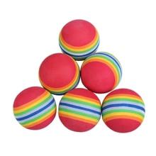 JHO-50pcs Golf Swing Training Aids Indoor Practice Sponge Foam Rainbow Balls
