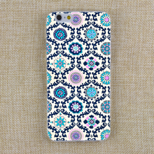 For Apple IPhone 4 4S 5 5S SE 5C 6 6s 6PLUS 6SPLUS Soft TPU Silicone Transparent Beautiful Colorful Mandala tartan Cover Case