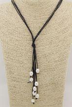 Настоящее натуральное белое жемчужное ожерелье с каплевидной