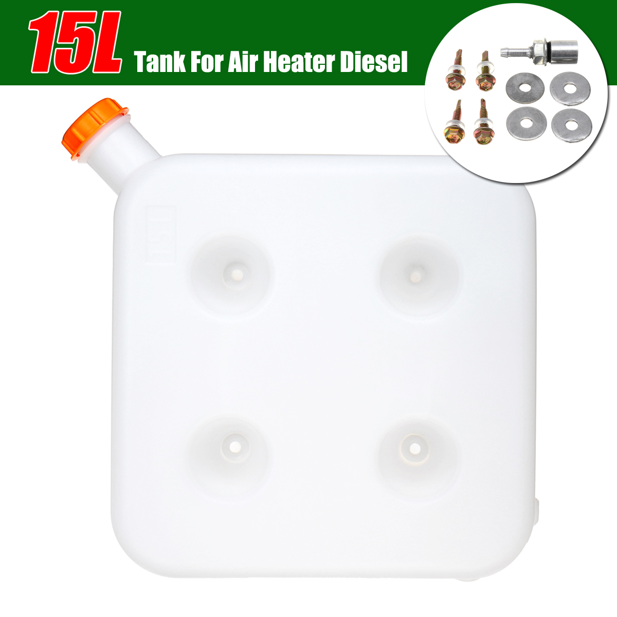 Special Section Car Heating Accessories Parking Heater 15l Plastic Fuel Oil Gasoline Tank For Motorhome Trucks Diesels Air Heater