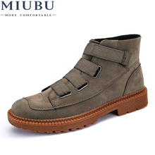 MIUBU 2019 New Men Ankle Boots High Top Casual Fashion Winter Autumn Warm Fur Male Shoes Man Outdoor Footwear