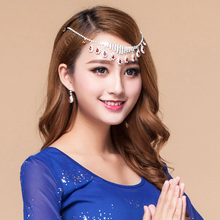 2016 Women Dancewear Jewelry Set for Dance (Headpiece/Necklace + earrings) 2pcs Diamond Jewelries Set  Belly Dance Accessories