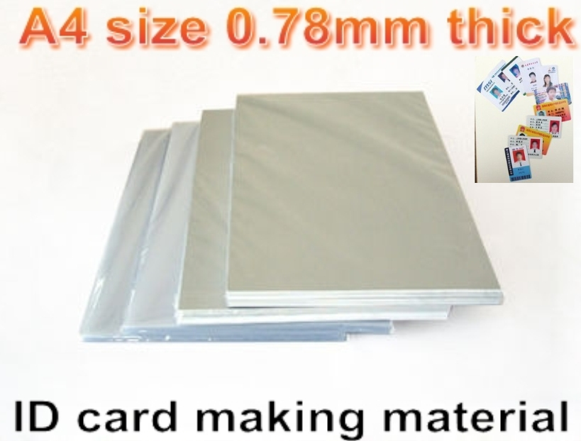 A4 size 0.78mm thick Blank Inkjet print <font><b>PVC</b></font> <font><b>sheet</b></font>(white) for <font><b>PVC</b></font> ID card making ,student card , membership card making material image