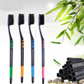 150PCs Grip Non Slip Handle Bamboo Charcoal Toothbrush 360 Degree Tooth Brush Massage And Anti-slip Tooth Brush  17SAN3