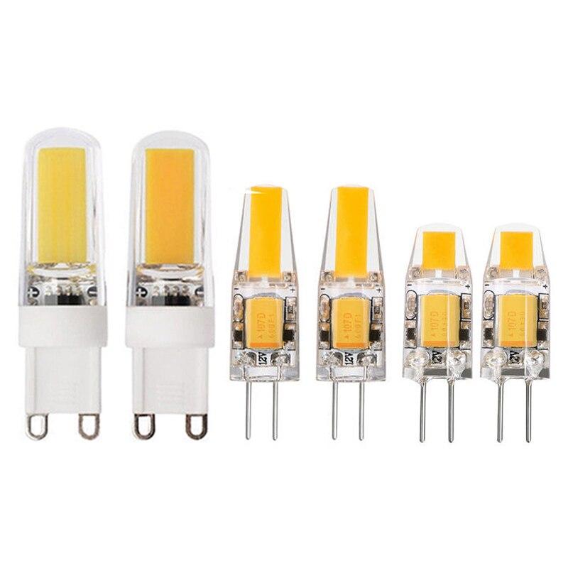 LED G4 G9 Lamp Bulb AC/DC 12V 220V 6W 9W 10W COB SMD LED Lighting Lights replace Halogen Spotlight Chandelier iminovo 20 pack g4 led light bulb ac dc 12v 220v 24 48led replace 10w 30w 50w halogen silicone smd3014 3w 5w 9w ceiling lighting