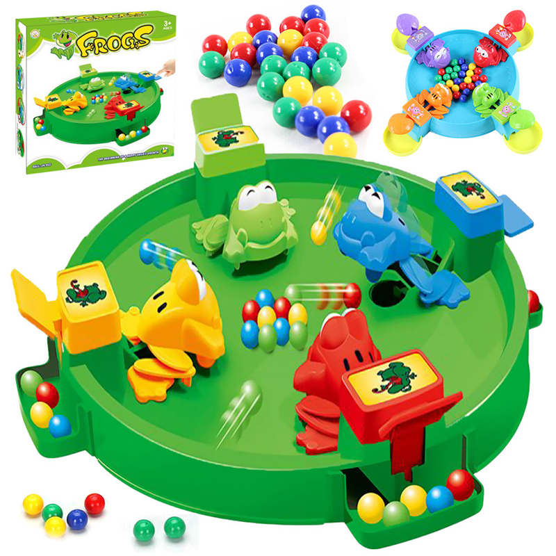 2019 Funny Frog Eating Beans Board Games Toys Swallowing Beads Casual Brain Action Pacman For Boys Girls