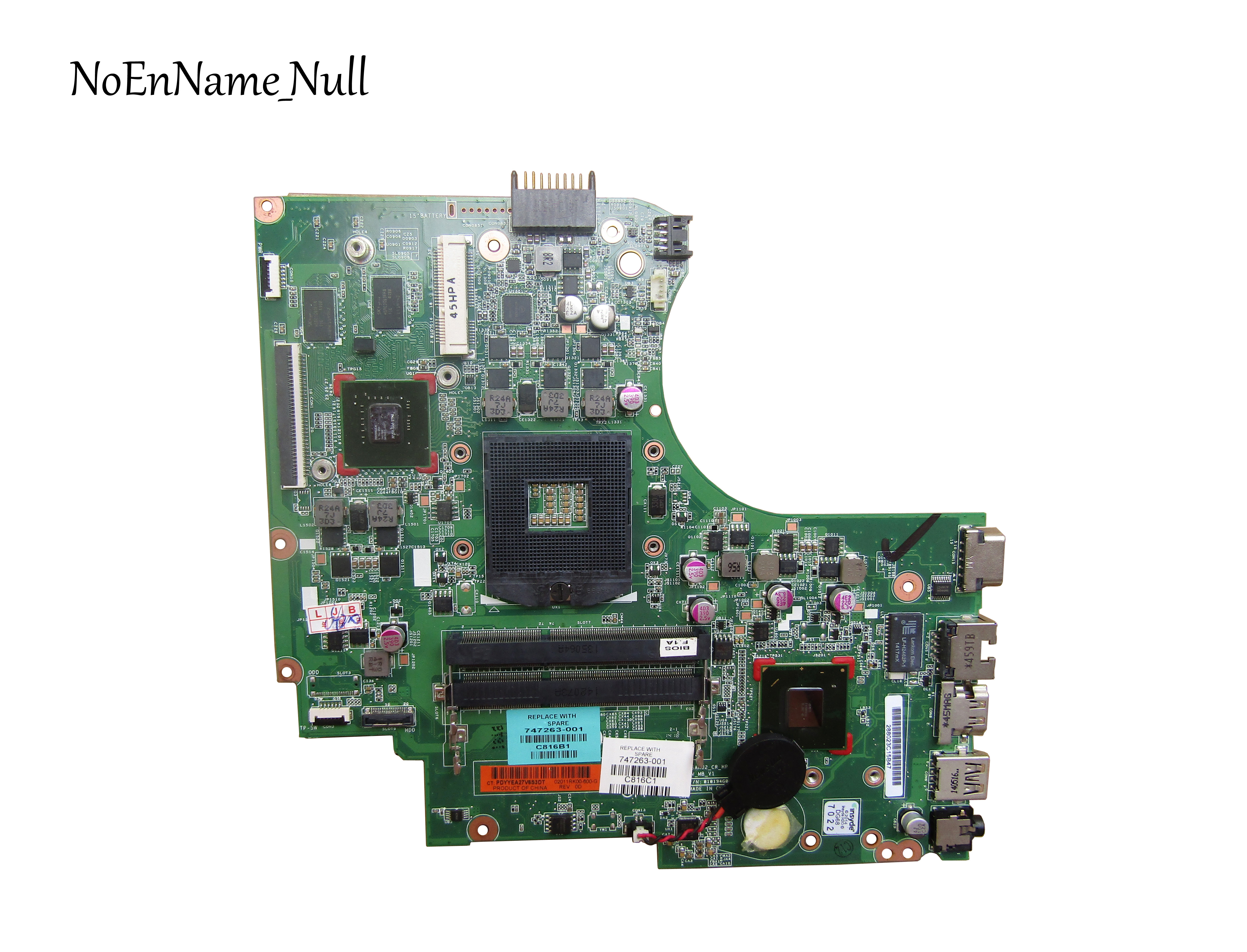 747263-001 FOR HP 240 G2 246 G2 14-D series Laptop Motherboard 747263-501 Mainboard 820M 1GB HM76 PGA989(China)