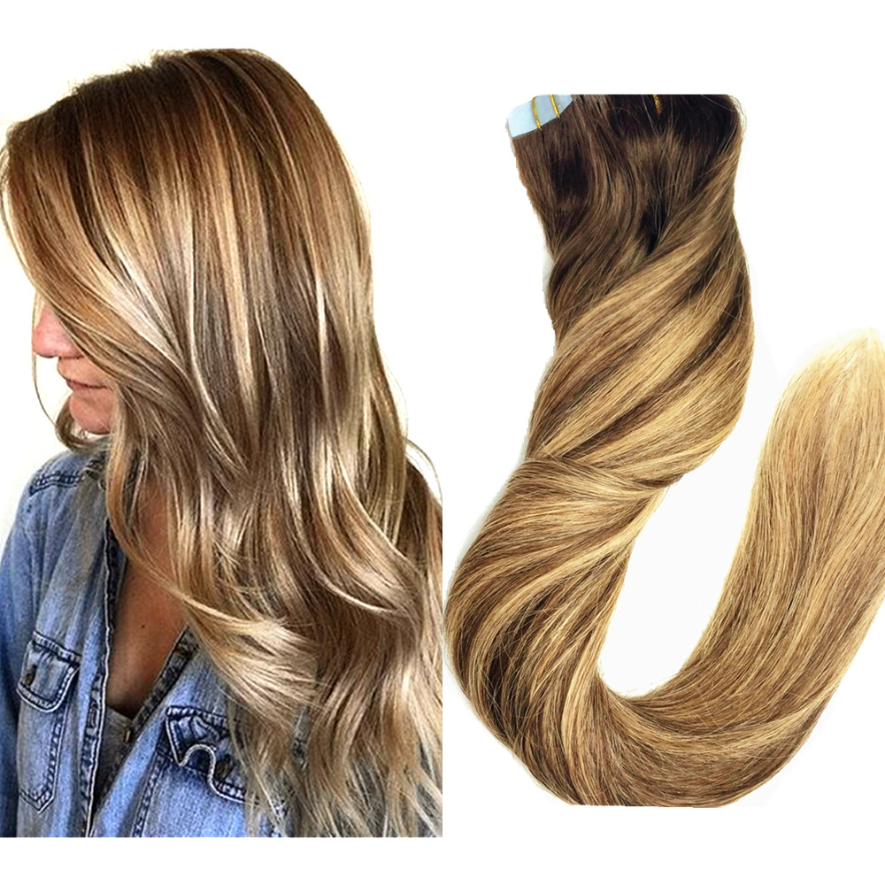 Chocolate Ombre Balayage Blonde Highlights Hair Weaves Color 4 With