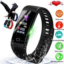 LIGE New Smart Bracelet Heart Rate Blood Pressure Health Monitor Watch Pedometer Sport Wristband fitness tracker+Box