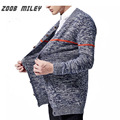 ZOOB MILEY Mens Sweaters Casual Coats Winter Long Sleeve Cardigan Men Knitwear Sweaters 2016 Fashion Autumn Plus Size M-2XL