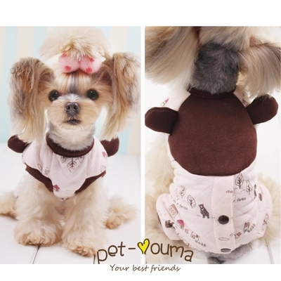 Cute bear winter warm fleece dog coat jacket Small Dog cat Pet hoodie jumpsuit clothing small dog Yorkshire clothes costume