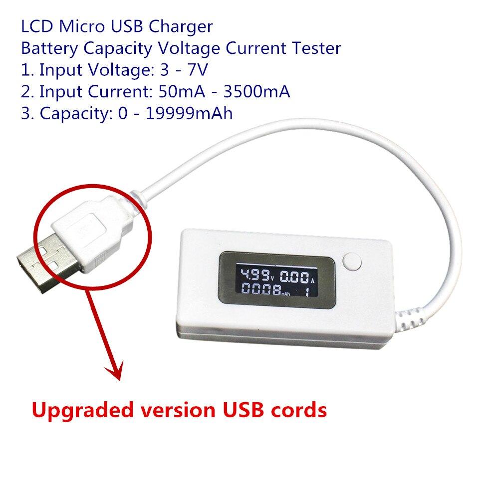 Versión mejorada lcd cargador micro usb detector de medidor de voltaje actual pr