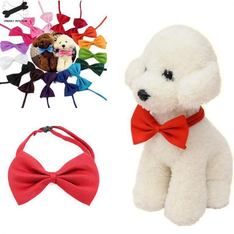 1 Piece Adjustable Dog Cat Bow Tie Neck Tie font b Pet b font Dog Bow