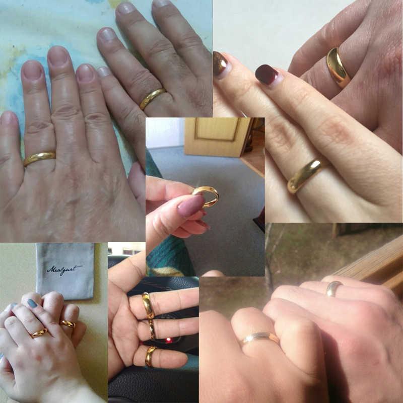 Meaeguet ทังสเตนคาร์ไบด์แหวนคู่ทองคำ-สี Lover หมั้น Anel เครื่องประดับ