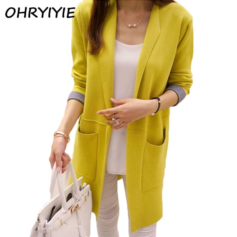 OHRYIYIE . Store OHRYIYIE Women Long Cardigan Female 2017 Autumn Winter Women Sweater Long Sleeve Knit Cardigans For Women Jacket jumper WS124