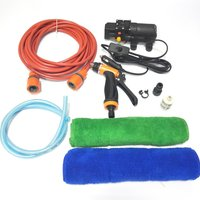 Portable 12V Car Wash Kit Washing Machine Cleaning Electric Pump High Pressure Washer Device Tools Set Plug and Play