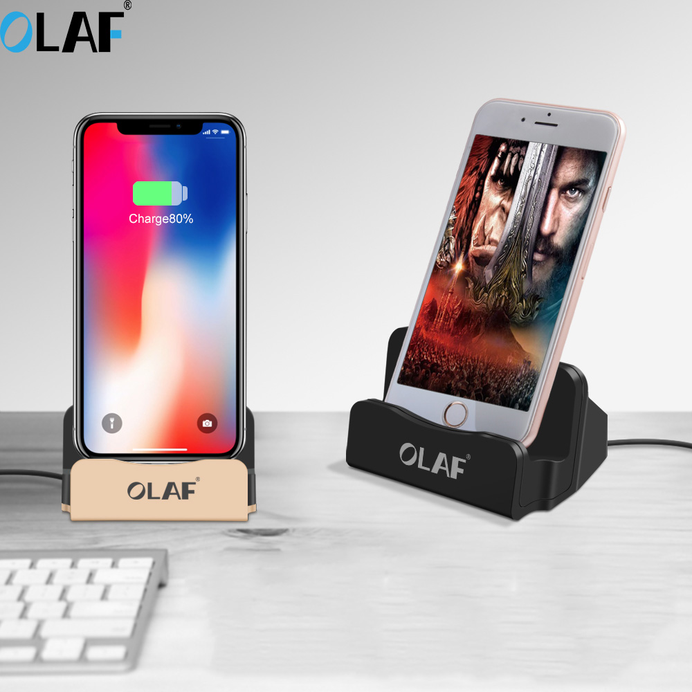 OLAF Android Magnetic Charger Holder USB Desktop Charging Stand Syncing Docking Station For iphone X Samsung Xiaomi Huawei Зарядное устройство