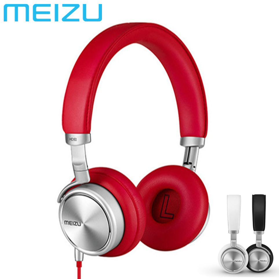 Original MEIZU HD50 HIFI Earbuds Headphone Stereo Headset With Mic Foldable Noise Isolation Microphone Bass Sport