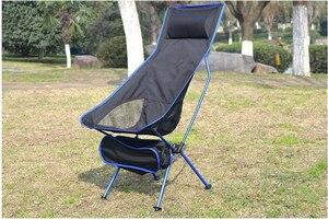 Image 1 - 휴대용 접이식 문 의자 낚시 캠핑 바베큐 의자 접는 확장 하이킹 좌석 정원 초경량 사무실 홈 가구