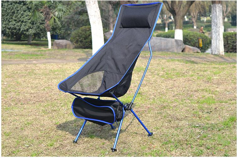 Portable Collapsible Moon Chair Fishing Camping BBQ Stool Folding Extended Hiking Seat Garden Ultralight Office Home Furniture