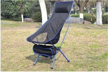 Przenośne składane krzesło księżycowe wędkarstwo Camping BBQ stołek składany rozszerzony fotel turystyczny ogród Ultralight biuro dom umeblowanie tanie i dobre opinie Nowoczesne Metal Aluminium Księżyc krzesło Plaża krzesło 60X56X35 40X90X100 Beach Chairs Meble ogrodowe Light weight with Carrying Bag Modern Simple Design Durable Stable Cha