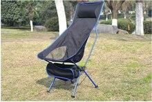 Przenośne składane krzesło księżycowe wędkarstwo Camping BBQ stołek składany rozszerzony fotel turystyczny ogród Ultralight biuro dom umeblowanie