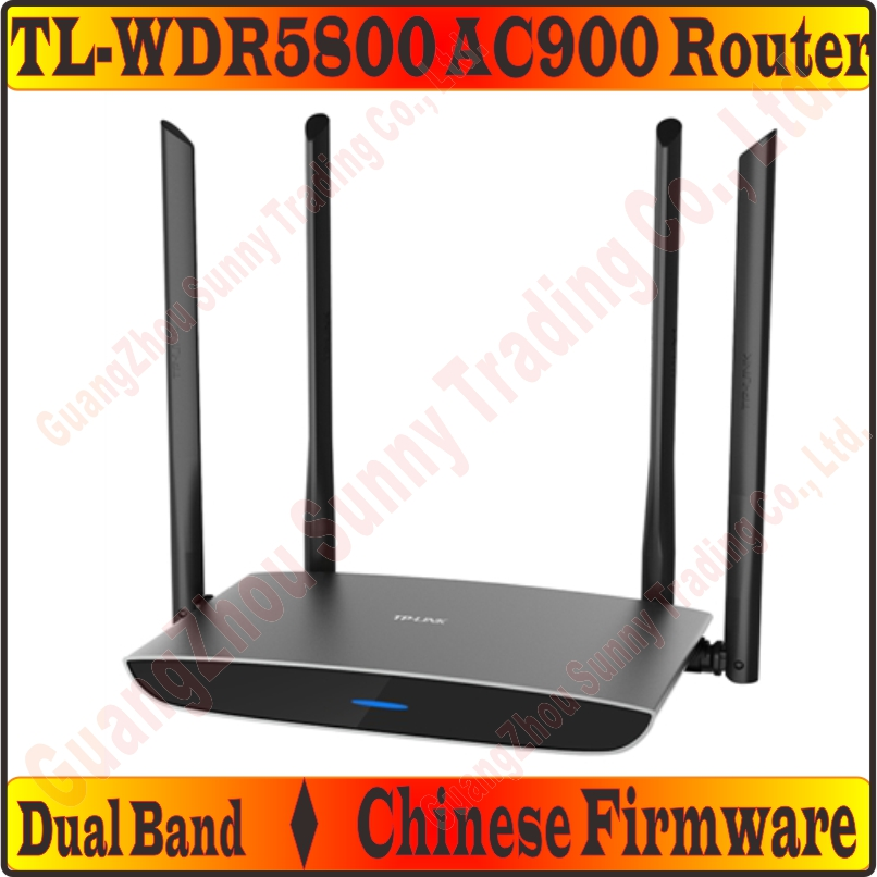 US $48 79 |[Chinese Firmware] 4 External Antennas TP LINK Wireless Router  802 11 AC900Mbps Dual Band 2 4GHz + 5GHz Gigabit AC900 Huge WiFi-in  Wireless