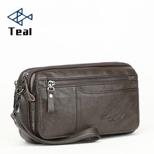 Men Wallets Double Zipper Genuine Leather soft Wallet Men Coin Purses Fashion Long Male Clutch Bag With Phone Pocket williampolo men wallets real leather clutch bag men europe and american style fashion black double zipper clutch bag pl188