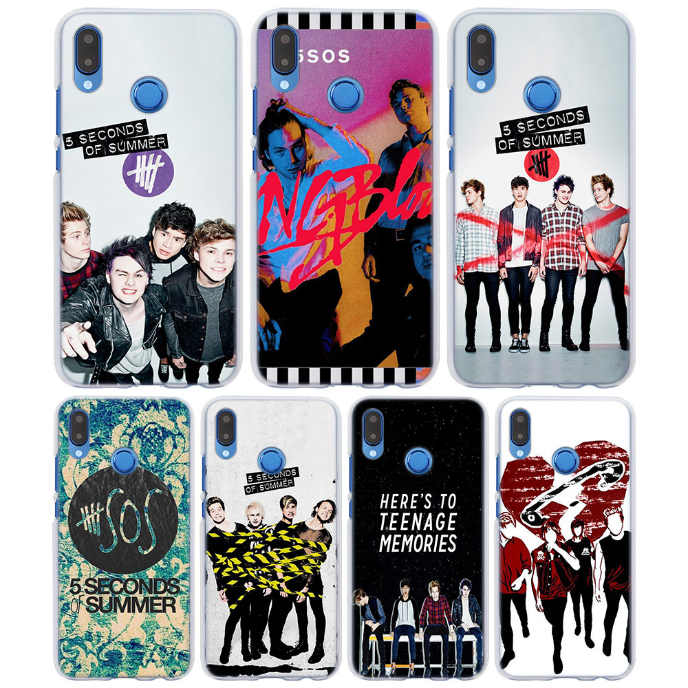 For Huawei P Seconds Of Summer 5sos Style Clear Frame Back Cover Case For Huawei P20 Lite P Smart P10 Lite P8 P9 Lite