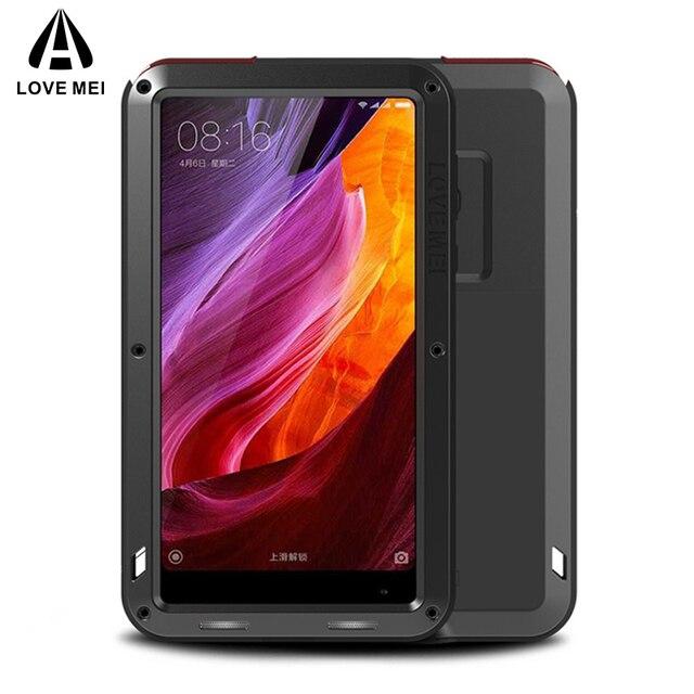 Coque en métal Love Mei pour Xiaomi Mi MIX 2 MIX 2S housse de téléphone antichoc pour Xiaomi Mi MIX 2 MIX 2S coque armure Anti chute complète du corps