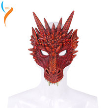 2019 New Year Decoration Carnival Party Animal Costume Dragon Cosplay Masquerade 3D Face Mask Dinosaur  halloween costume