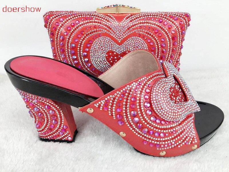 Italiennes De Mariage Ensemble Set Doershow Pour 53 Et Chaussure Compensées Sac Chaussures Africaines Hlu1 Ensembles Femmes Correspondant TxPvqwO