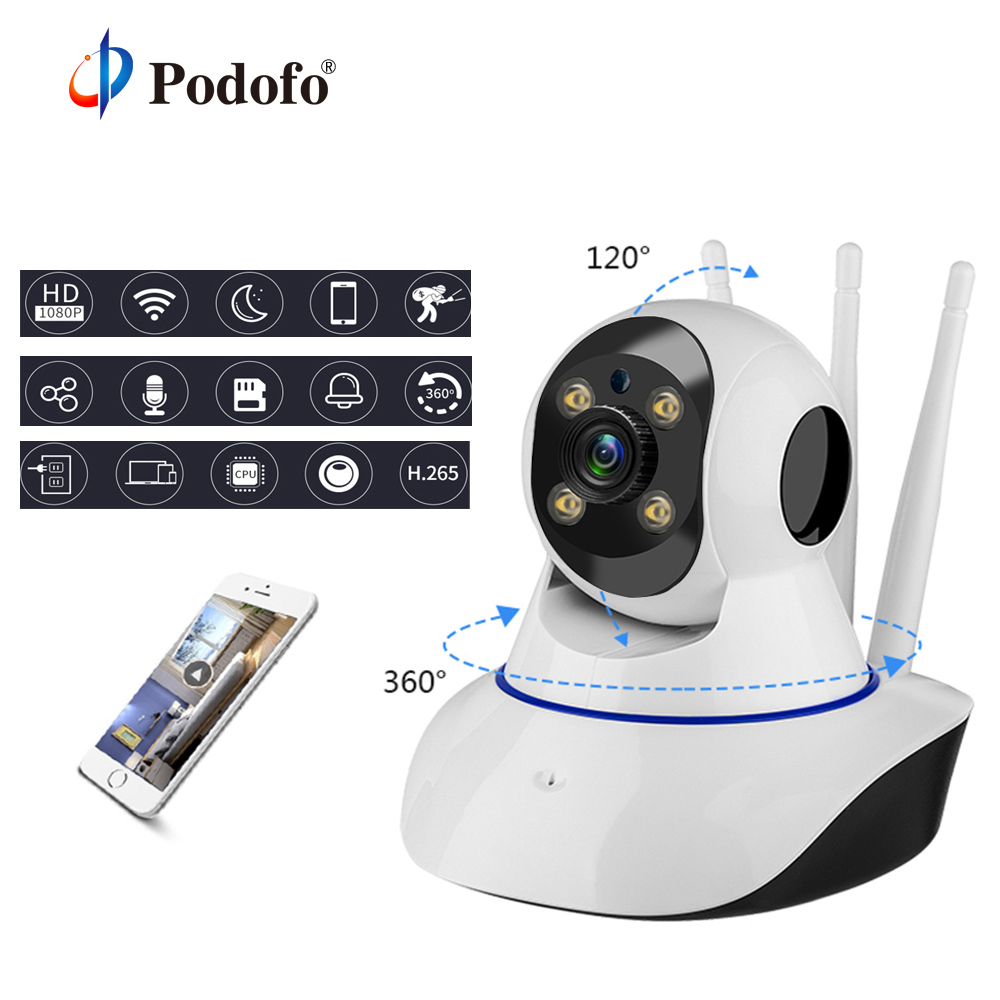 Podofo PHD 720P Wifi Home Security IP Camera Two Way Audio Wireless 1MP Night Vision CCTV Mini P2P Surveillance Baby MonitorPodofo PHD 720P Wifi Home Security IP Camera Two Way Audio Wireless 1MP Night Vision CCTV Mini P2P Surveillance Baby Monitor