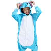 2016 Kids Christmas Pyjamas Cute Cartoon Kids Pajamas Baby Sleepwear Children Clothing Sleepwear Flannel Stitch Animal
